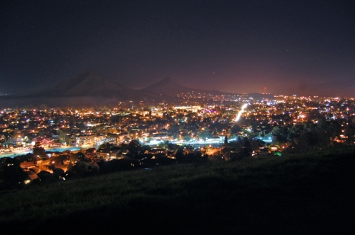 Downtown San Luis Obispo at night (with a longer exposure than the previous picture).