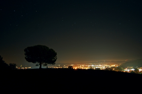 San Luis Obispo lights in the distance.